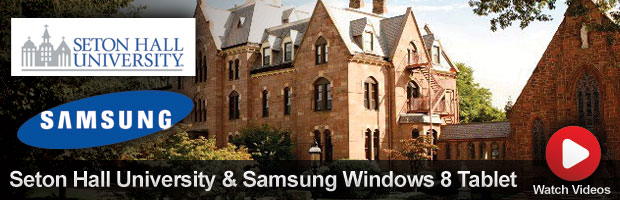 Seton Hall University and Samsung Windows 8 Tablet