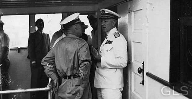 (Recipient of Medal of Honor and Famed Polar Explorer), on the USS North Star, Canal Zone/Panama 1939